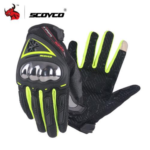 HEROBIKER® SCOYCO Alloy Steel Madbike Motorcycle Racing Full Finger Gloves
