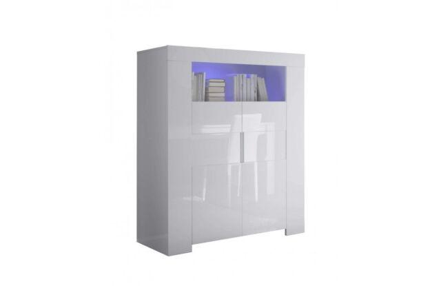 Eos Mobile 2 Ante laccato Bianco lucido Credenza Madia Buffet design moderno