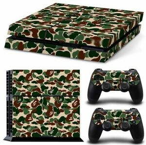 Camo-Camoflauge-SKIN-DECAL-STICKER-4-PS4-PlayStation-For-Console-Controller