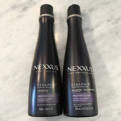 Lot Of 2 New Nexxus Keraphix Damage Healing Shampoo 13 5 Fl Oz Each 605592005183 Ebay