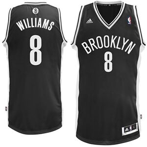 new style 806ce 70596 Details about New Deron Williams # 8 Brooklyn Nets Adidas Swingman Black  Youth NBA Jersey