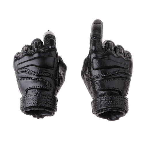 1//6 Scale Black Men/'s Gloves Hands for 12inch HT TC TTL PH Male Figures Body