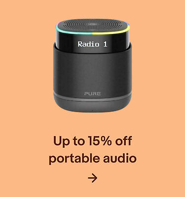 Up to 15% off portable audio