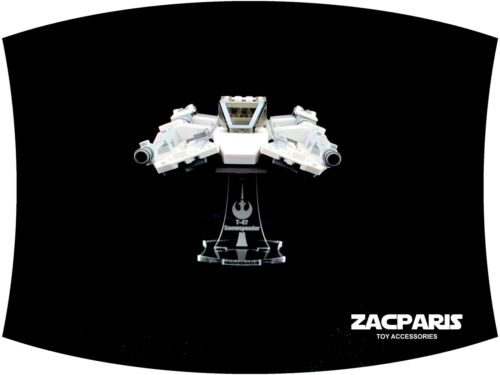 Clear acrylic,Nice! DISPLAY STAND for Star Wars Lego 75259 75049 Snowspeeder