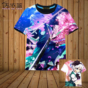 T-shirt Tops Game 東方Project TouHou Project Otaku Pullover Full Color Cool#H-815
