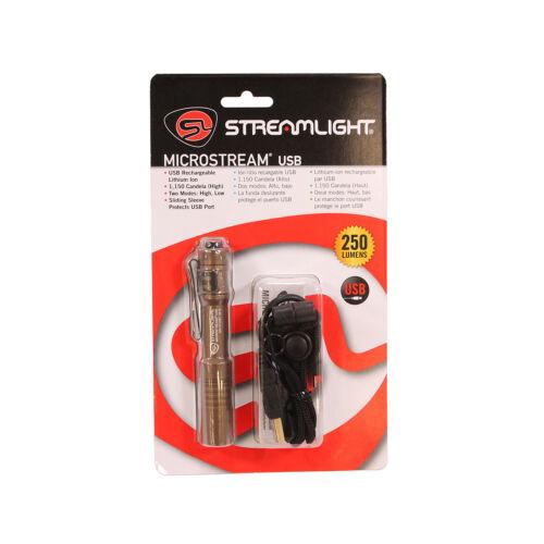 Streamlight 66608 Tan MicroStream Rechargeable USB Pocket Light LED Flashlight