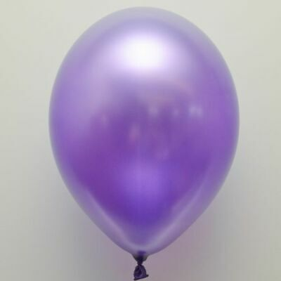 "Birthdays Event 50 x 12/"" Metallic Purple Pearlised Latex Balloons Partys,"
