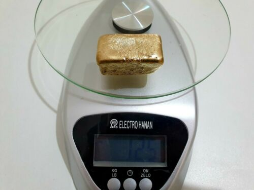 125 Grams Scrap Gold Bar For Gold Recovery Melted Different Computer Coin Pins
