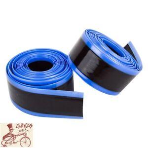 Mr-Tuffy-26-034-24-034-X-1-3-8-034-Bleu-Velo-Pneu-Liners-Tube-Protections-1-paire