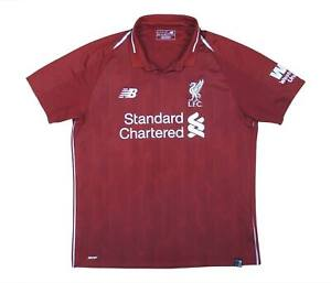 Liverpool 2018-19 Authentic Home Shirt (eccellente) L soccer jersey