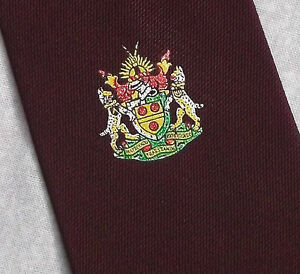 HonnêTeté Vintage Cravate Homme Cravate Shield Crested Club Association Society-afficher Le Titre D'origine