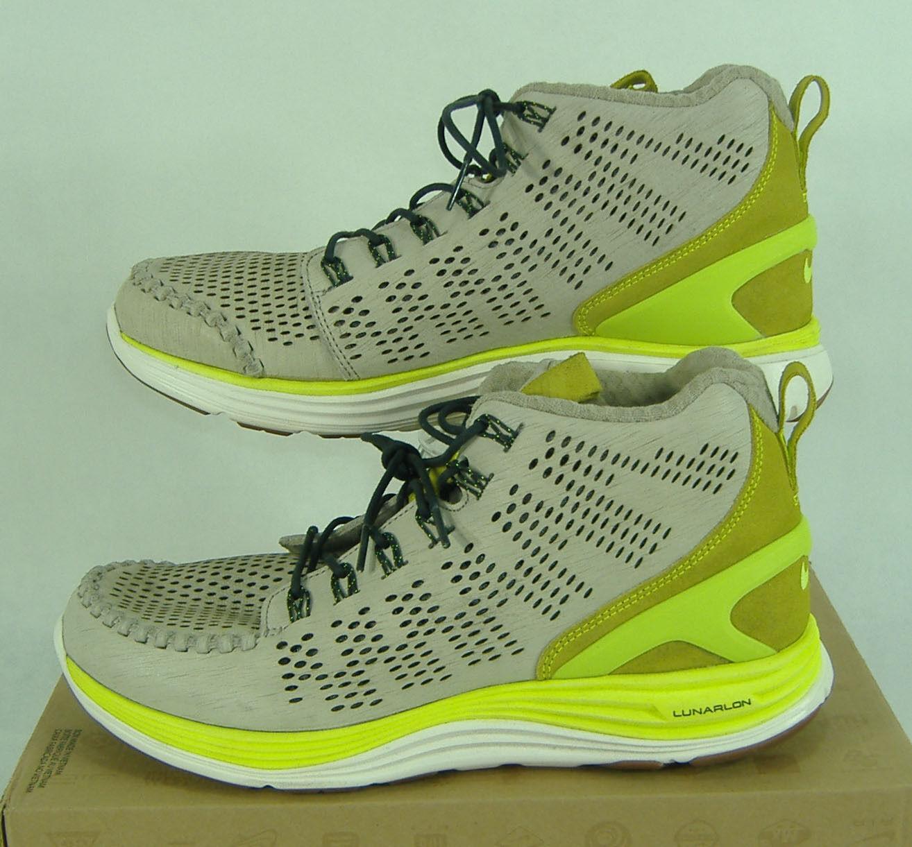 New Mens 9.5 NIKE Lunar Chenchukka QS Stone Volt Volt Volt Green Mid shoes  150 553553-030 dd740a