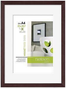 Nielsen Apollo Wenge Wood Picture Frame 30 X 40 Cm A4 Mount Ebay