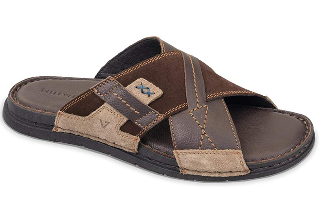 Sandals Slippers Man Valleverde 20829 Brown Leather List Price -10%