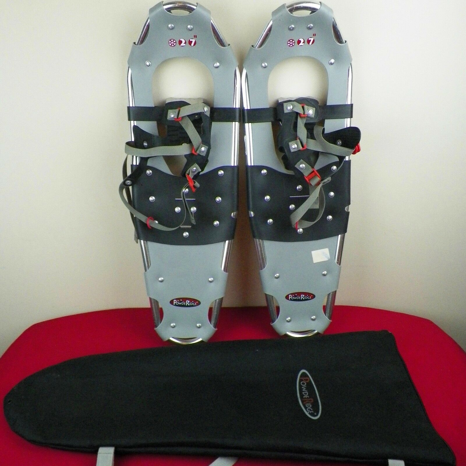 Power Ridge Aluminum Snow shoes 27  x 9   Ice Cleats With Carrying Bag