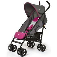 Joie Nitro Stroller In Charcoal Pink, Lightweight Infant Pram