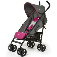 Joie Nitro Stroller In Charcoal Pink, Lightweight Infant Pram