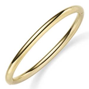 Armreif-Armband-Armschmuck-aus-585-Gold-Gelbgold-5mm-breit-abgerundet-glaenzend