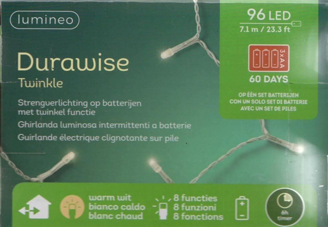 DECO 80 blanc chaud à piles DEL Mini Micro DEL String Lights