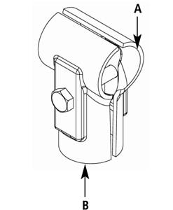 T-Schelle geteilt Rohrschelle verschiedene Größen