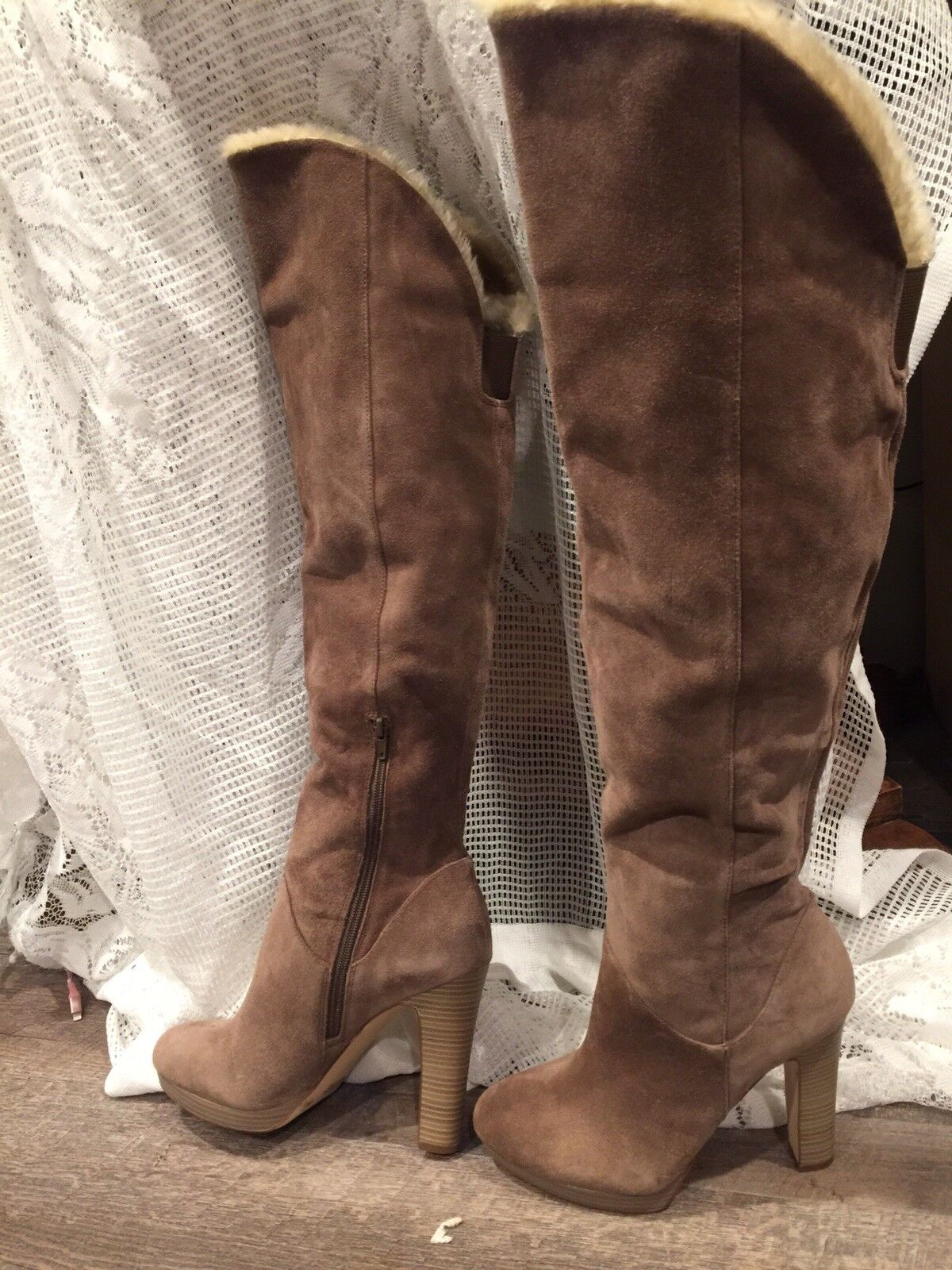 Suede I.N.C Boots Ladies 9B Brand New