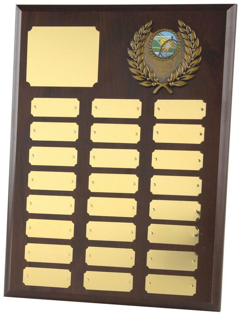 24 Year Annual,Perpetual Shield,Plaque, 305mm x 230mm,FREE Engraving (167A)twt