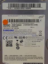 Samsung hd154ui/P/N: 61923-b761-a25ph/2010.02 - 1,5 TB SATA II discoteca duro