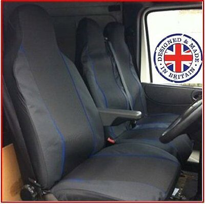 WATERPROOF BLACK VAN SEAT COVERS SINGLE /& DOUBLE 2+1 VW TRANSPORTER T4 96-03