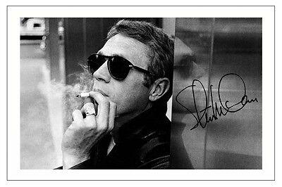 McQueen Smoking A4 Mounted Photo