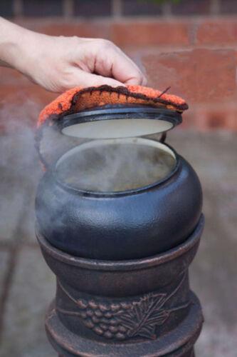 Chimenea Olla De Hierro Fundido Esmaltado Guiso pot Camping Marmita Olla De Camping Bote