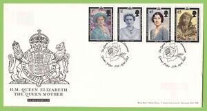 G-B-2002-Reina-Madre-en-u-un-primer-dia-cubierta-de-Royal-Mail-Glamis