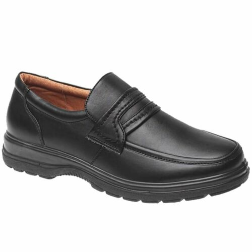 Men/'s Slip On Faux Leather Work Flat Office School Smart Comfortable Shoes