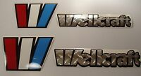 Wellcraft Chrome Diamond Plate Marine Vinyl Boat Decals Stickers 4 Decal Set
