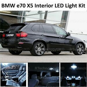 Details About 2018 Premium Bmw X5 E70 Interior Pure White Full Upgrade Led Light Bulbs Kit
