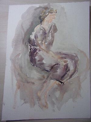 2. Aquarelle Originale (fond D'artiste Vershaeve) Limpid In Zicht