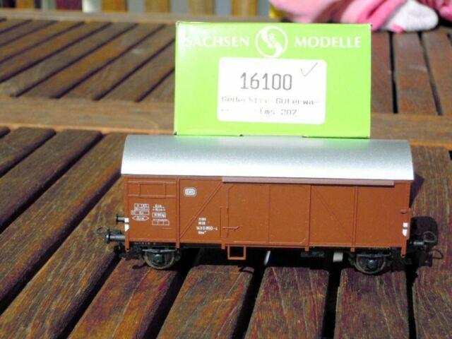 """Sachsenmodelle 16100 gedeckter Güterwagen """"Bremen"""" Glms 207 der DB Epoche 4"""