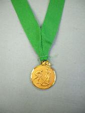 """female field hockey gold medal 1 1/4"""" diameter green neck drape"""