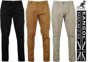 PANTALON-CHINO-HOMME-KANGOL-100-COTON-AUTHENTIQUE-DU-40-AU-54