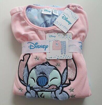 Disney Stitch Filles Polaire Pyjama Enfants Hiver PJ Set 7-15 ans PRIMARK BNWT
