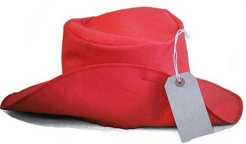 Film-World Book Day STATION BEAR Classic Red Hat-Label-Kids Fancy Dress Set