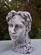 Fiberglass/Latex Concrete Mold- Lady Head Planter