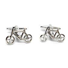 Cycle Push Bike Cufflinks & Gift Pouch