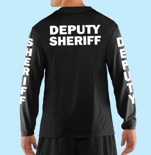 Deputy Sheriff Professional Black Long Sleeve T Shirt Business,Cotton,Gildan