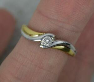 Natural Diamond Solitaire and 18ct Gold Ring