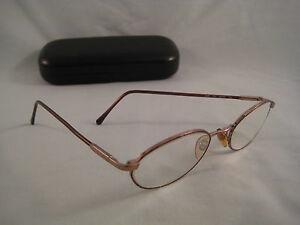 sferoflex rx eyeglasses tortoise shell gold metal oval eye