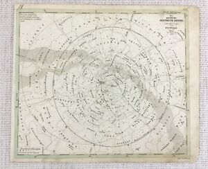 1843-Antique-Map-Solar-System-Astronomy-Star-Chart-Hand-Coloured-Engraving