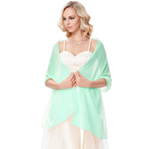Women Sheer Chiffon Bridal Evening Wedding Scarf Soft Shawl Cover Stole Pashmina