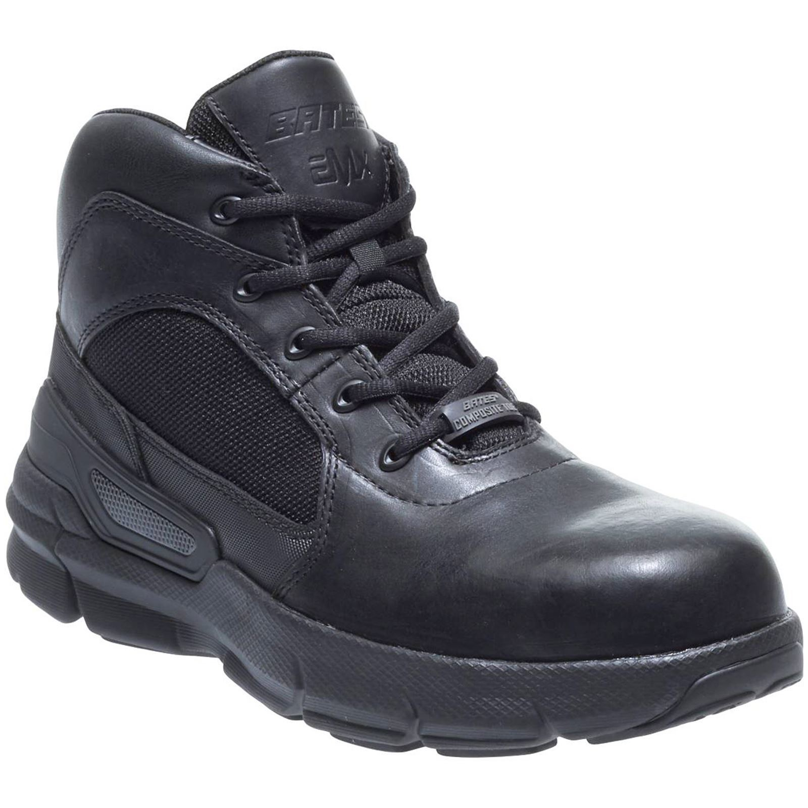 Bates Charge 6 Composite Toe Black Mens Leather Military Tactical Ankle Boots