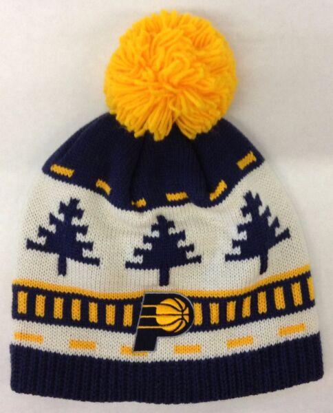 a52449adba5 NBA Indiana Pacers Adidas Cuffless Pom Winter Knit Hat Cap Beanie Style   KU90Z