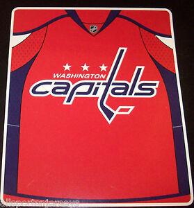 NHL NWT ROYAL PLUSH RASCHEL THROW BLANKET JERSEY DESIGN - WASHINGTON ... f86891a42